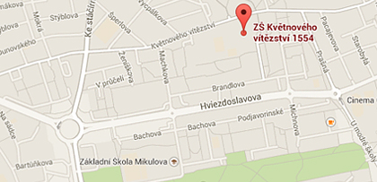 Adresa: ZŠ Květnového vítězství 1554, Praha 4 - 104 00
